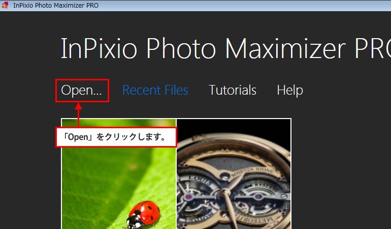 InPixio Photo Maximaizer Proの使い方2
