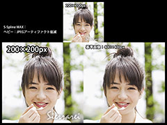 S-Spline MAX:ヘビー:JPEGアーティファクト低減