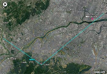 芥川山城跡からの眺め