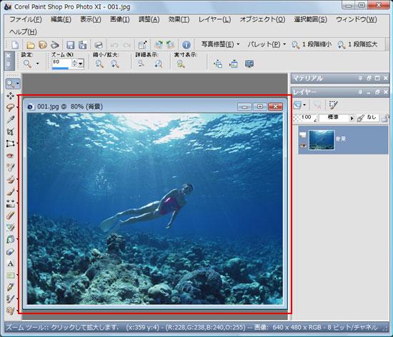 Paint Shop Pro Photo(ペイントショッププロ)-Paint Shop Pro Photo(ペイントショッププロ)-画像サイズ変更3
