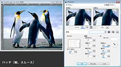 Paint Shop Pro Photo(ペイントショッププロ)-「効果」→「テクスチャ効果」→「テクスチャ」の説明。