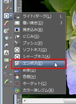 Paint Shop Pro Photo(ペイントショッププロ)-エンボス1