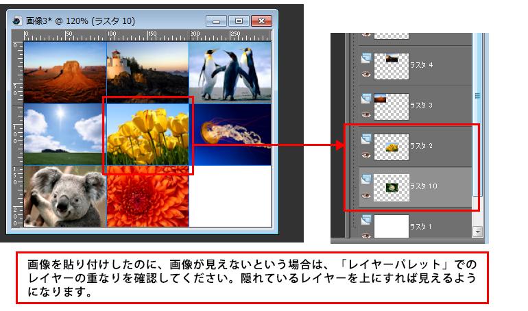Paint Shop Pro Photo(ペイントショッププロ)-複数画像を1枚の画像に合成する方法9-3