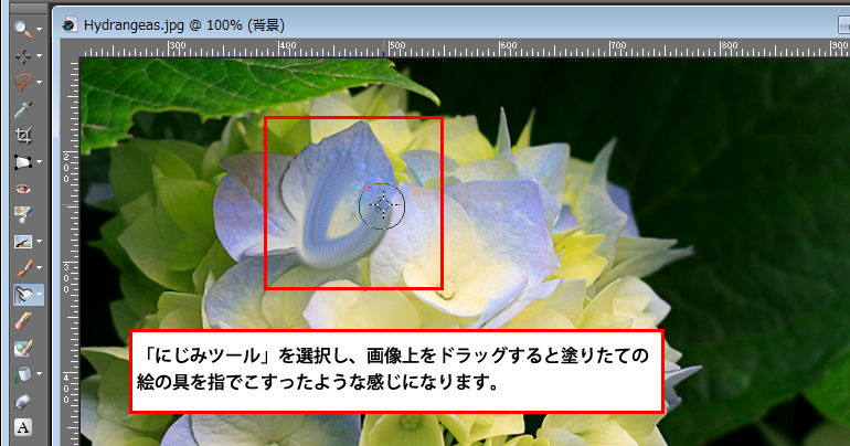 Paint Shop Pro Photo(ペイントショッププロ)-にじみ2-1