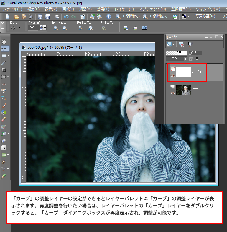Paint Shop Pro Photo(ペイントショッププロ)-雪が降っているようなイメージを作る方法5
