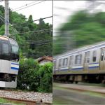 画像の合成:電車の流し撮り風の加工(1/2)