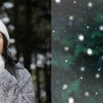 雪が降っているようなイメージを作る方法(1/2)