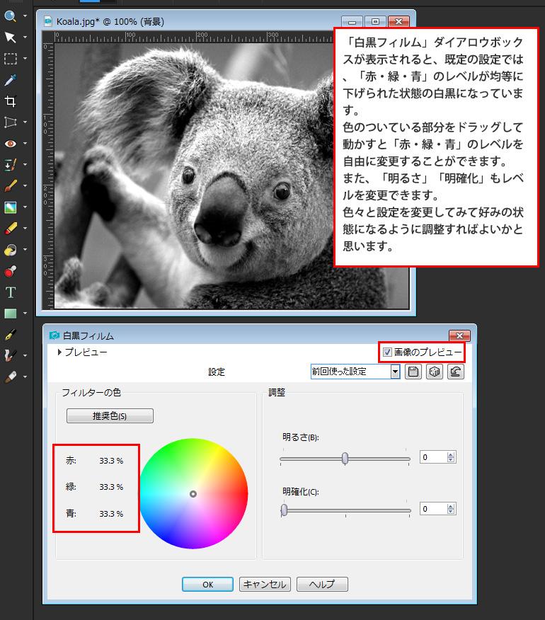 Paint Shop Pro Photo(ペイントショッププロ)-写真を白黒フィルムで撮影したようにする。カラーを反転させてネガにする方法2