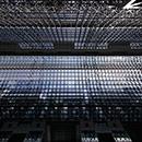 京都 駅ビル 中央改札口を出たところから真上を見上げたもの
