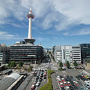 京都 駅ビル 東側4F 烏丸小路広場からの眺め