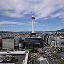 京都 駅ビル 空中径路からの眺め