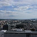京都 駅ビル 西側屋上から南側の眺め