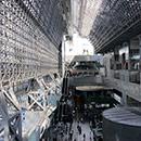 京都 駅ビル 西側から東側の眺め