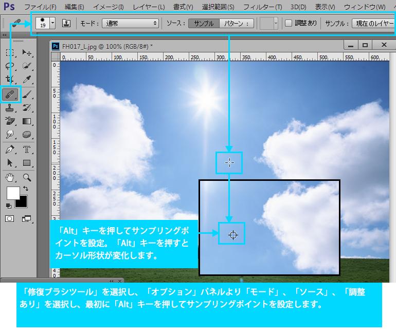Photoshop CC修復ブラシツール