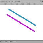 「ブラシツール」「鉛筆ツール」で直線を引く方法