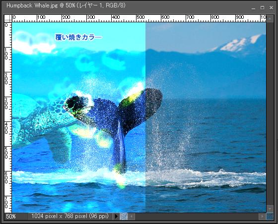 Adobe Photoshop Elements7 操作マニュアル(使い方)アドビ フォトショップ エレメンツ7-レイヤーパレットの描画モードを変更すると10