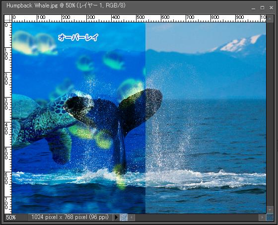 Adobe Photoshop Elements7 操作マニュアル(使い方)アドビ フォトショップ エレメンツ7-レイヤーパレットの描画モードを変更すると13