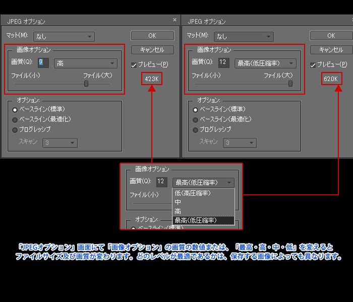 Adobe Photoshop Elements7 操作マニュアル(使い方)-切り抜きした画像をJPG/GIF/PNGどれで保存するか?7