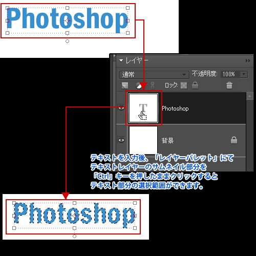 Photoshop Elements(フォトショップエレメンツ)-文字(テキスト)に枠線(縁取り)を付けた状態にする