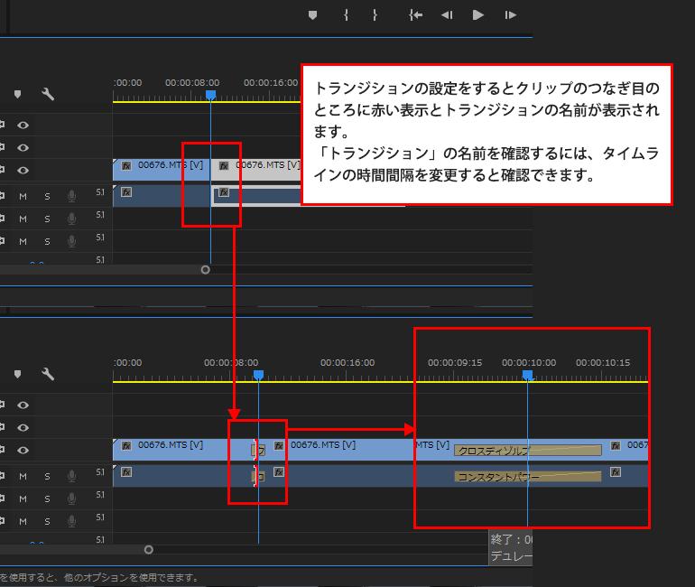 Adobe Premiere Proの使い方「レーザーツール」による時間のトリミング7